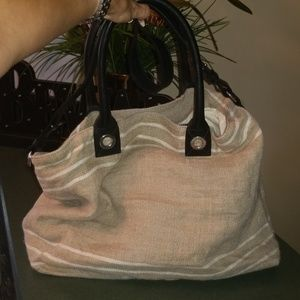 Massimo Dutti Made in Spain Linen Large Tote NEW!